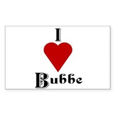 I Love (heart) Bubbe Rectangle Decal