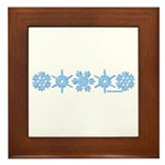 Winter Snowflakes Framed Tile