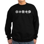 Winter Snowflakes White Sweatshirt (dark)