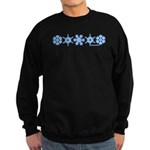 Winter Snowflakes Sweatshirt (dark)