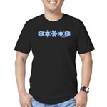 Winter Snowflakes Men's Fitted T-Shirt (dark)