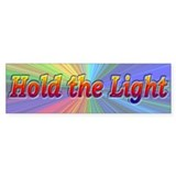Psychedelic Hold The Light - Bumper Sticker