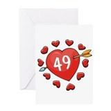 49th Valentine Greeting Card