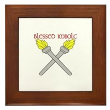 BLESSED IMBOLC Framed Tile