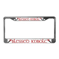 BLESSED IMBOLC License Plate Frame