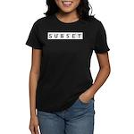 Subset Scrabble Letter Logo Women's Dark T-Shirt
