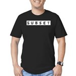 Subset Scrabble Letter Logo Men's Fitted T-Shirt (