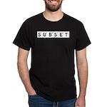Subset Scrabble Letter Logo Dark T-Shirt