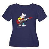 Catoons™ Bass Guitar Cat Women's Plus Size Scoop N
