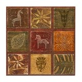 Cute Native american wall Tile Coaster