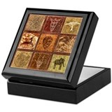 Cute African animal Keepsake Box