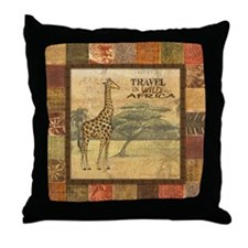 Cute Safari Throw Pillow