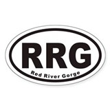 Red River Gorge RRG Euro Oval Decal