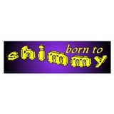 Shimmy wild Bumper Car Sticker
