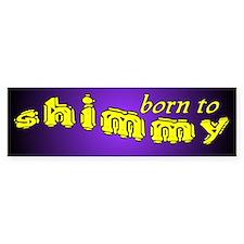 Shimmy wild Bumper Car Sticker