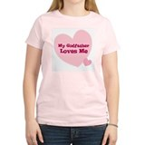 My Godfather Loves Me Women's Pink T-Shirt