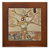 Gustav Klimt Art Framed Tile Tree of Life 2