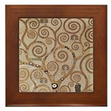 Gustav Klimt Art Framed Tile Tree of Life 1