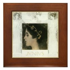 Gustav Klimt Art Framed Ceramic Tile - Junius