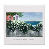 Rose Cottage Tile Coaster