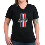 Cars 1956 Women's V-Neck Dark T-Shirt