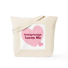 Greatgrandpa Loves Me Tote Bag