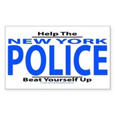 Help New York Police Rectangle Bumper Stickers