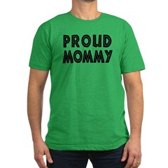 Proud Mommy Men's Fitted T-Shirt (dark)