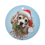 Cocker Spaniel, Toby Ornament (Round)