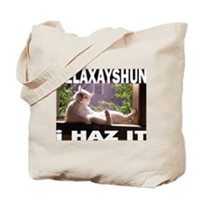 relaxation cat Tote Bag