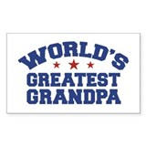 World's Greatest Grandpa Rectangle Decal