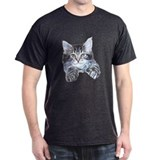 Happy Kitty Black T-Shirt