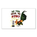 Hear Me Now Rectangle Sticker 50 pk)