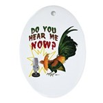Hear Me Now Oval Ornament