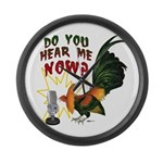 Hear Me Now Large Wall Clock
