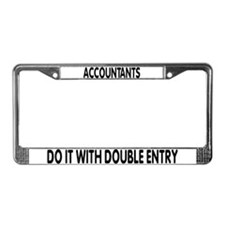 Cool Accountant double entry License Plate Frame
