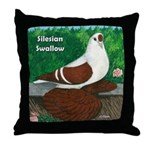 Silesian Swallow Throw Pillow