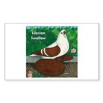 Silesian Swallow Rectangle Sticker 50 pk)