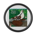 Silesian Swallow Large Wall Clock