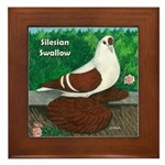 Silesian Swallow Framed Tile