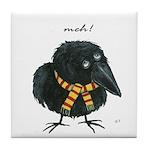 Meloncholy Crow Art Tile