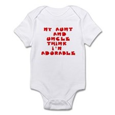 My aunt and uncle love me Infant Bodysuit