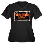 Getting Older Women's Plus Size V-Neck Dark T-Shir