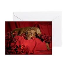 Vizsla Romantic Greeting Card