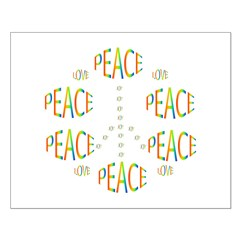 PEACE LOVE AND JOY Small Poster