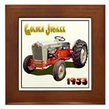 Tractor pulling Framed Tile