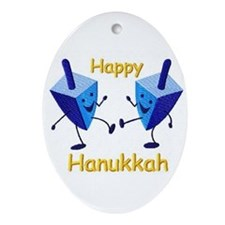 HANUKKAH Oval Ornament