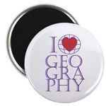 I heart Geography Magnet