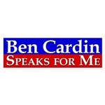 Ben Cardin Speaks for Me Bumper Sticker