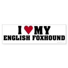 I Love My English Foxhound